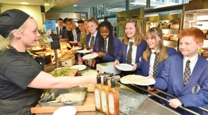 Lunchtimes at Hampton College Secondary Phase