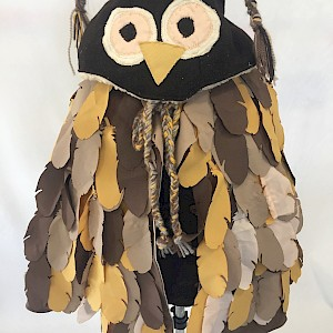 Kids Reversible Owl Coat
