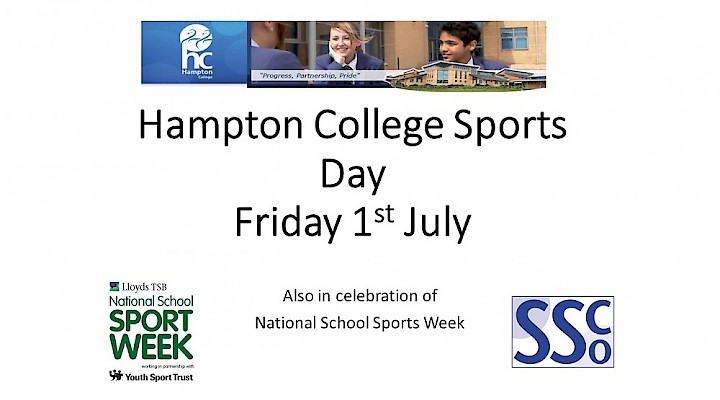 2016 Sports Day - Friday 1 July