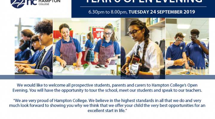 Year 6 Open Evening - September 2019