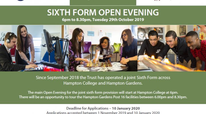 Sixth Form Open Evening - 6pm