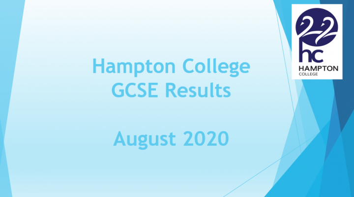 Hampton College GCSE Results